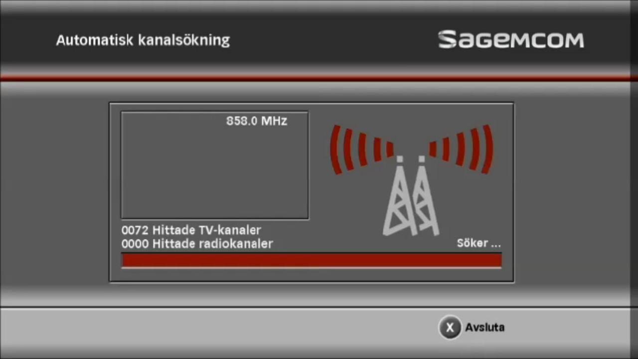 Kanalsökning för SAGEMCOM DT90 HD | Boxer