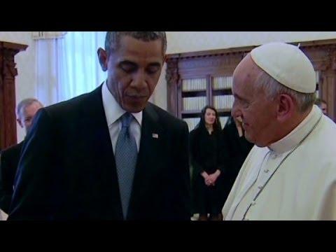 Ukraine talk overshadows Obama's Pope visit
