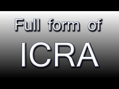 Full form of ICRA