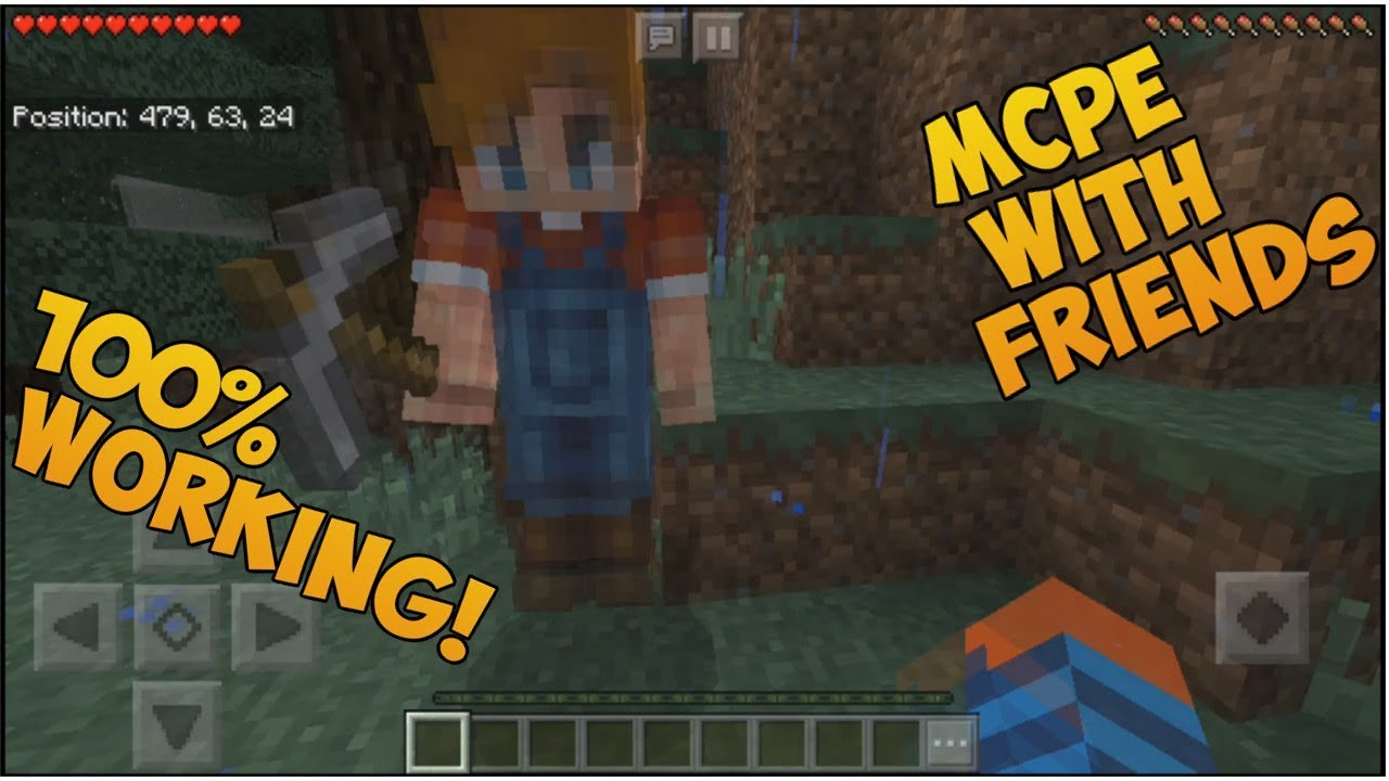 how to play with friends in minecraft pe
