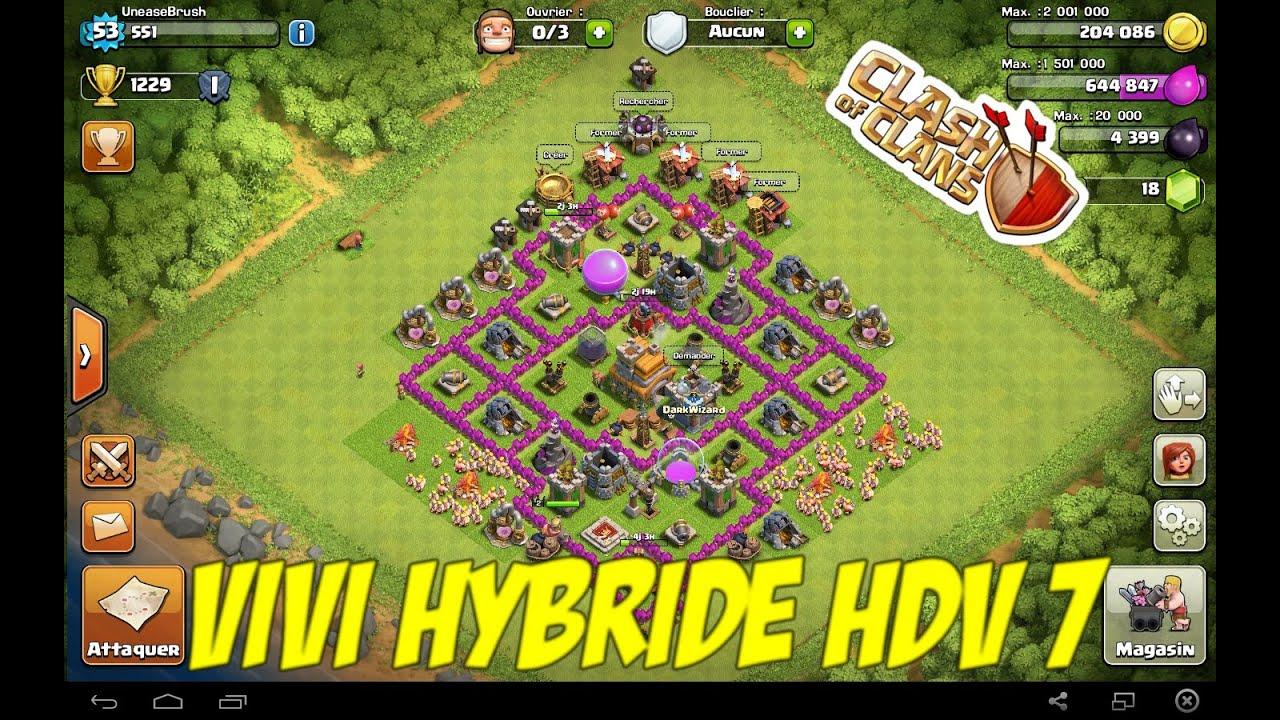 clash of clans village hdv 7 propulseur d 39 air inclus. Black Bedroom Furniture Sets. Home Design Ideas