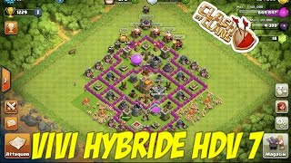 [Clash of Clans] Village hdv 7 + Propulseur d'air inclus (hybride)