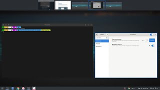 GNOME 3.32: PowerLevel10K Shell Prompt & Workspaces to Dock Extension
