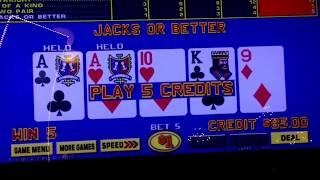 "Video Poker Play - Paris Las Vegas ""Almost"" a Royal Flush! $1 Video Poker Double Double Bonus"