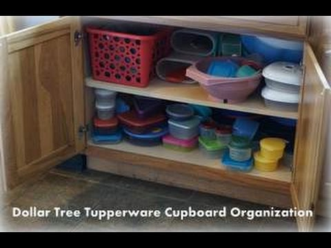 Dollar Tree Tupperware Cupboard Organization | Kitchen Declutter