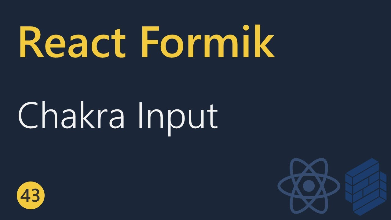ChakraInput in React with Formik