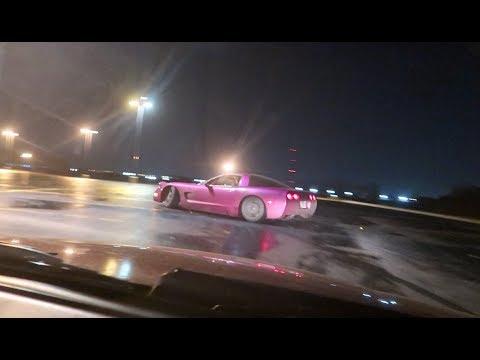 Corvette Caught Street Drifting