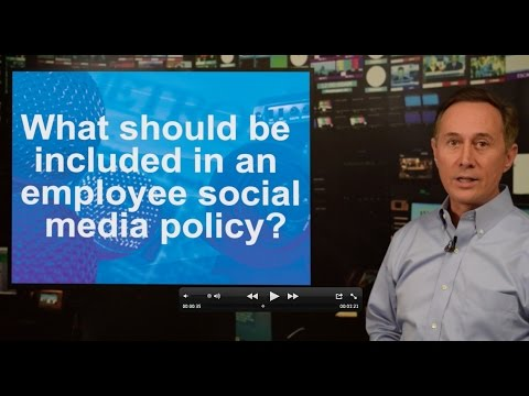 What should be included in an employee social media policy?