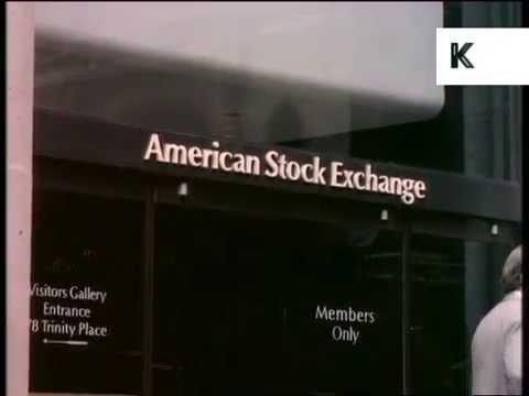 1970s New York American Stock Exchange Exterior, Archive Footage