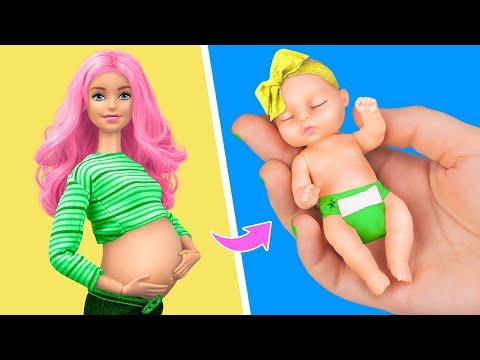 12 лайфхаков и поделок для Барби и миниатюрного малыша