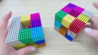 [Magnetic Balls] DIY How To Make Gaint Rainbow Cube with Magnetic Balls