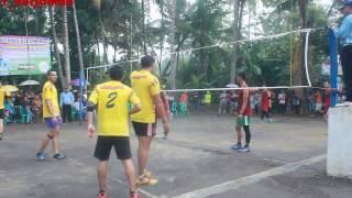 """Volley Ball Perang Bintang!!! """"Tuan Rumah KRC A Vs Rsu Kota Banjar   Di guyur Hujan Deras"""