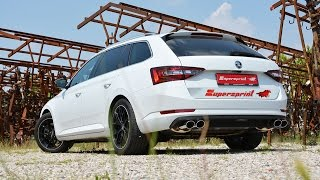 skoda superb 4x4 2 0 tsi 290 hp sound with supersprint full exhaust system with valves