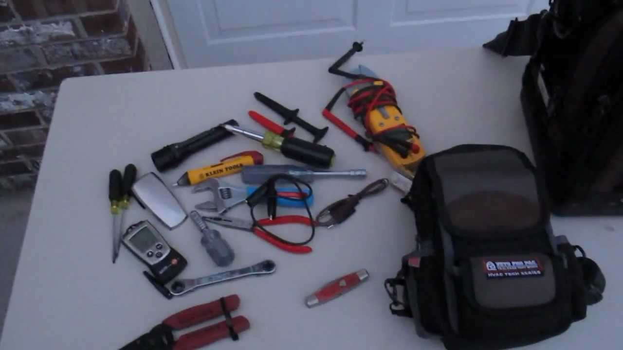 Hvac Tools Troubleshooting Tool Pouch Youtube Drawing