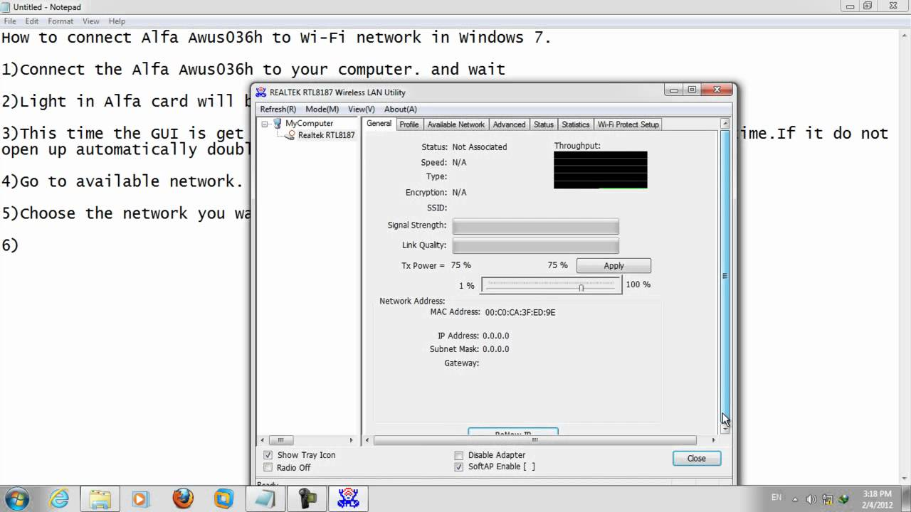 driver alfa network awus036h xp