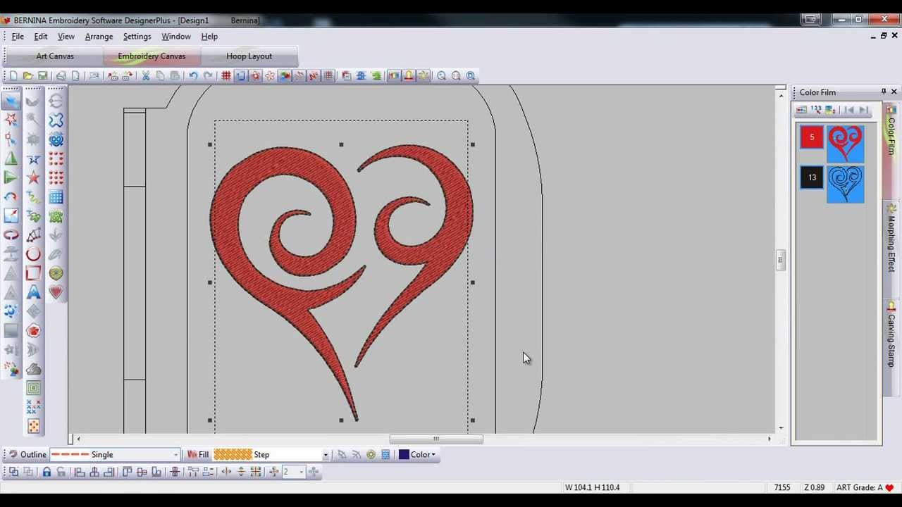 Bernina Embroidery Software 6 Insert Symbol Character Tool Tip 19 Youtube