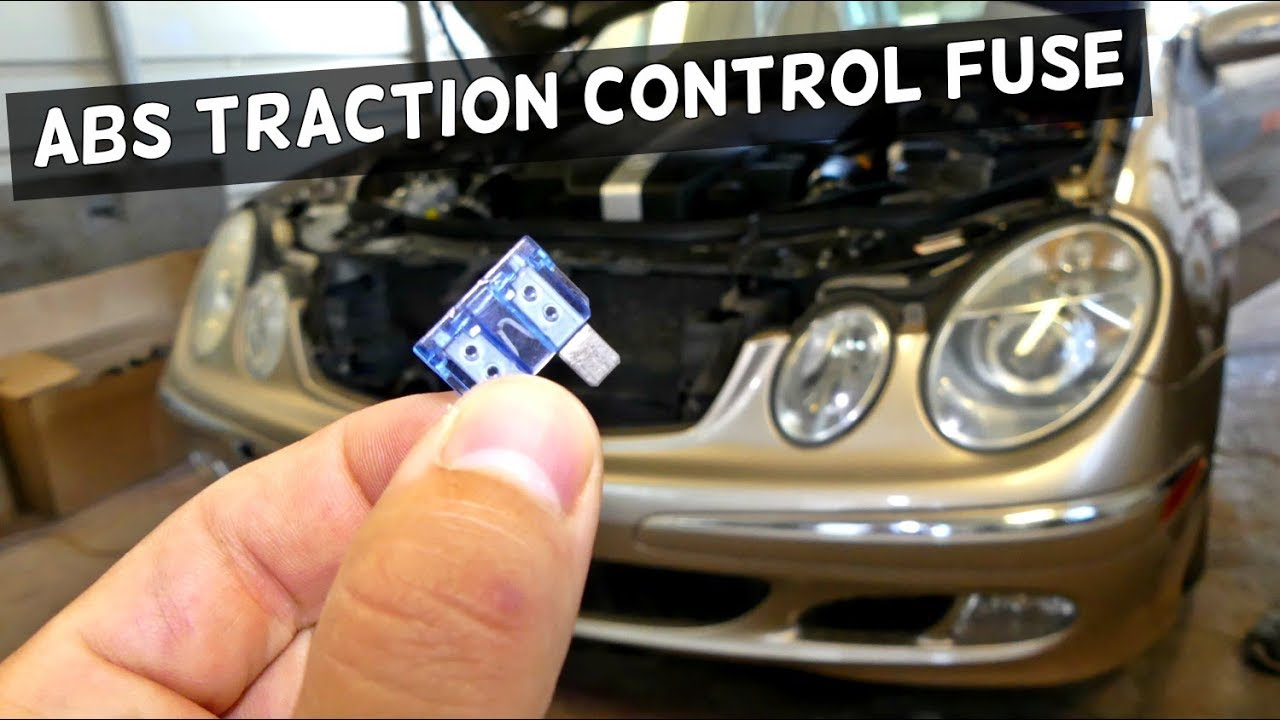 Mercedes W211 Abs Traction Control Fuse Replacement Youtube