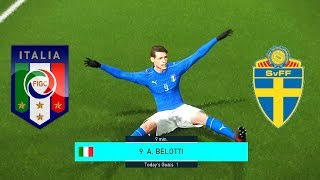 PES 2018 ITALY VS. SWEDEN FIFA World Cup Qualification 2nd Leg | Full Match Legend Level
