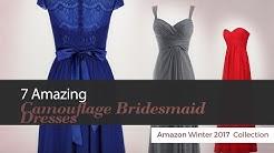7 Amazing Camouflage Bridesmaid Dresses Amazon Winter 2017  Collection