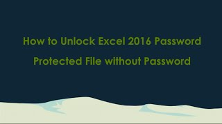 how to open password protected excel file without password