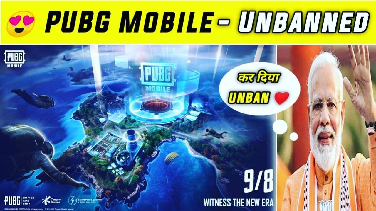 ? Biggest Good News : PUBG Mobile Unbanned in INDIA - Live ERANGEL 2.0 full Details