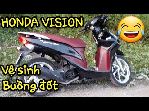 HONDA VISION 2011.VỆ SINH BUỒNG ĐỐT.KẾT QUẢ MỸ MÃN