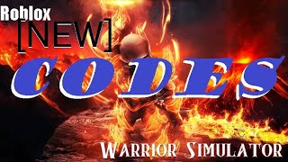 🔥 NEW ROBLOX CODE for WARRIOR Simulator! [NEW!] 🔥 Update 5