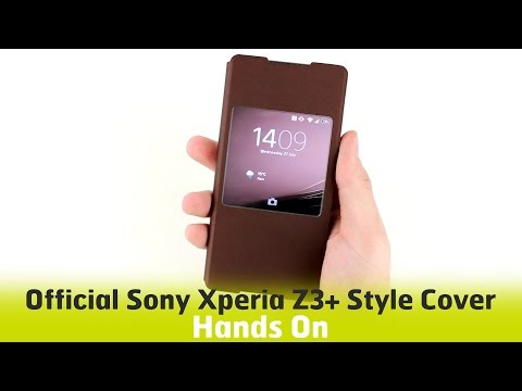 Official Sony Xperia Z3+ Style Cover Case SR30 - Hands On Review