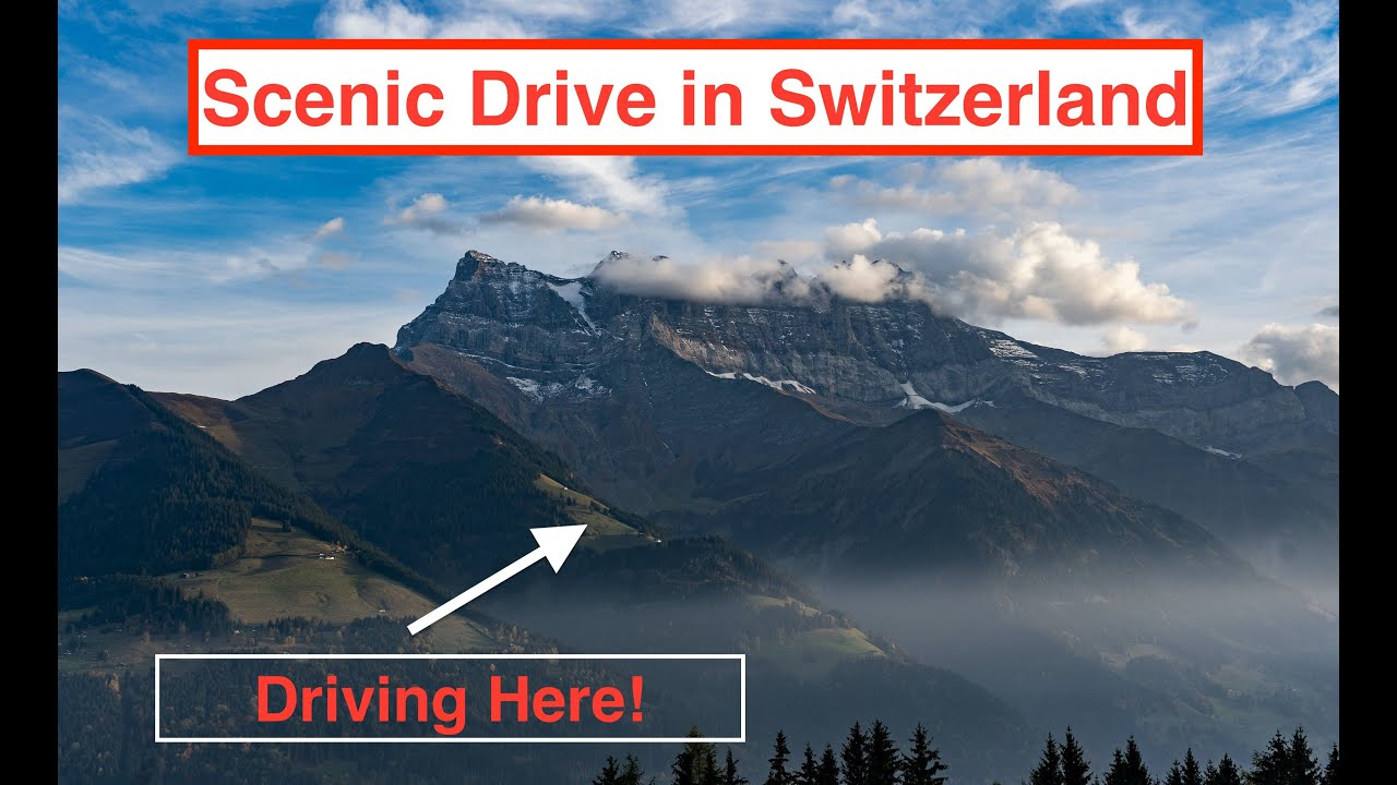 Amazing Scenic Drive from France into the Swiss Alps