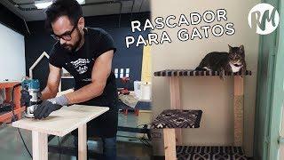 CARPINTERO POR UN DÍA: cómo construir un rascador para gatos DIY