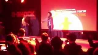 Les twins dancing in Tokyo G-Shock event