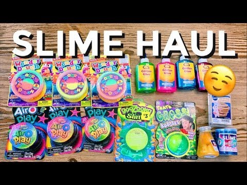 DOLLAR STORE SLIME & SUPPLIES HAUL | Shopping For Slime Supplies