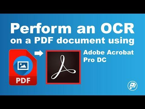 Perform an OCR on a PDF document using Adobe Acrobat Pro DC | Pixascene