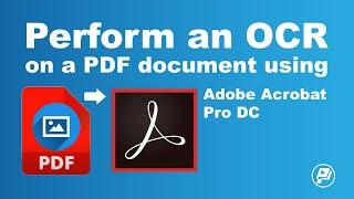 Perform an OCR on a PDF document using Adobe Acrobat Pro DC   Pixascene screenshot 2