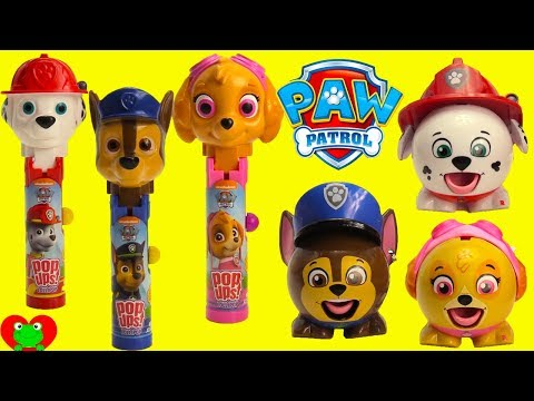 Collecting Paw Patrol Radz Candy and Lollipop Ups Surprises