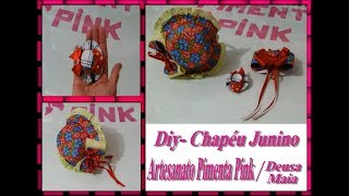 DIY – Chapéu Junino Feito De Tampas