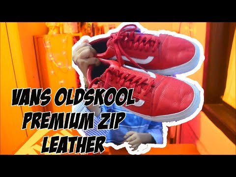 UNBOXING REVIEW! Vans oldskool premium zip leather (indonesia)