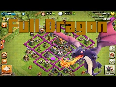 [Clash Of Clan] Full Dragon en guerre de clan !