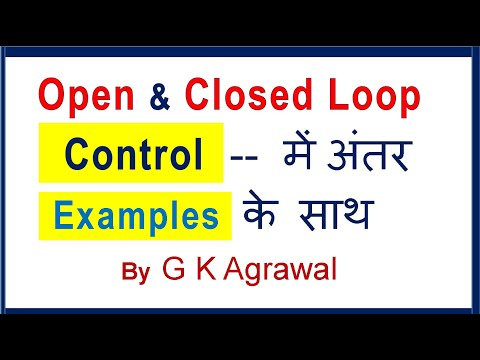 Control System in Hindi - Open and Closed loop difference