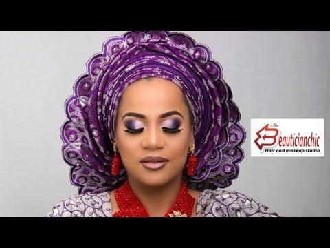 MAKEUP AND GELE YORUBA BRIDE NIGERIAN WEDDING COMPLETE EP4