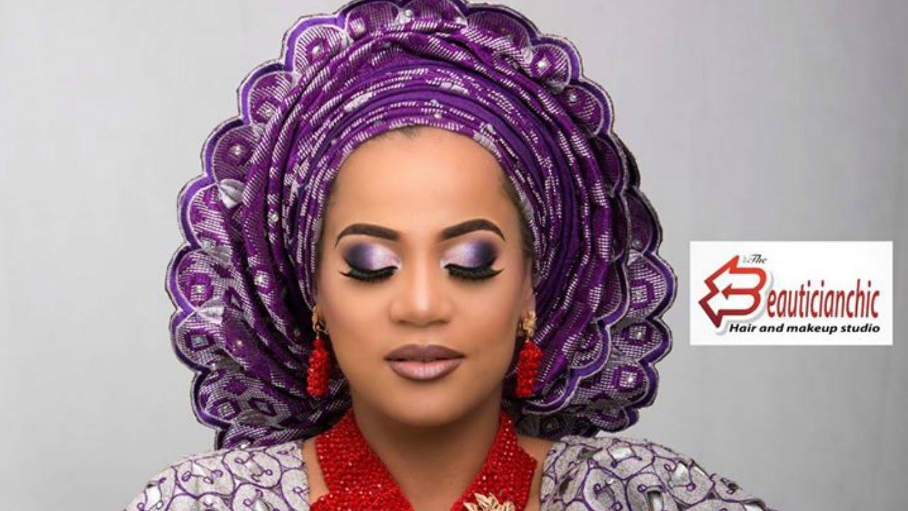makeup and gele yoruba bride nigerian wedding complete ep4 - youtube