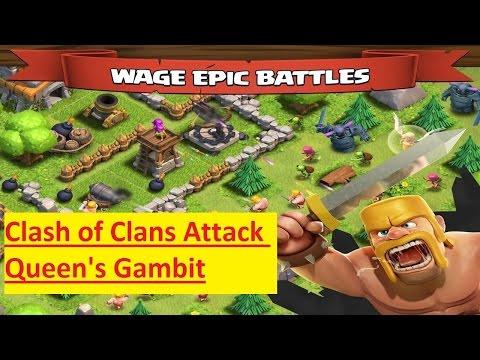 Clash Of Clans Attack Queen's Gambit HD 720p