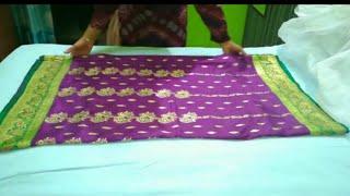 How To Iron Cotton & Silk Saree - Iron Saree At Home Easily