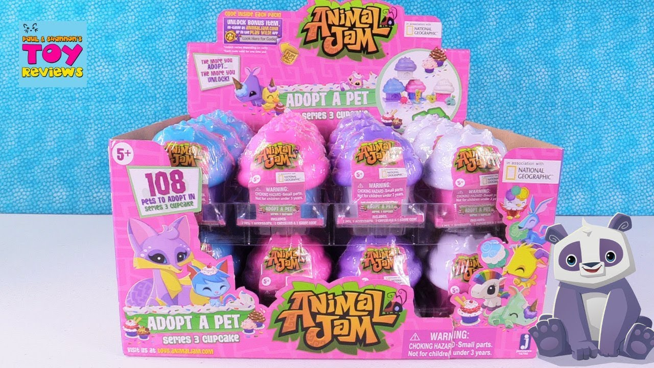 1x New Animal Jam Adopt A Pet Series 3 Cupcake Blind Mystery