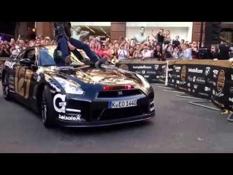 DAVID HASSELHOFF @ GUMBALL 3000 REGENTS STREET LONDON UK with NISSAN GTR KNIGHT RIDER