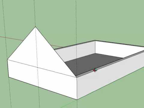 Cabane de jardin Sketchup-partie 1 - YouTube