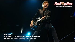 BON JOVI - LIVIN' ON A PRAYER live in Jakarta, Indonesia 2015