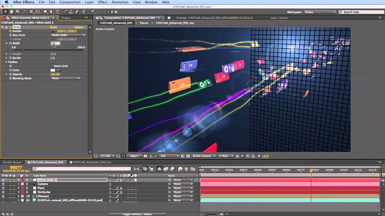 CINEMA 4D to After Effects Advanced: Part 4/4 (~30mins)