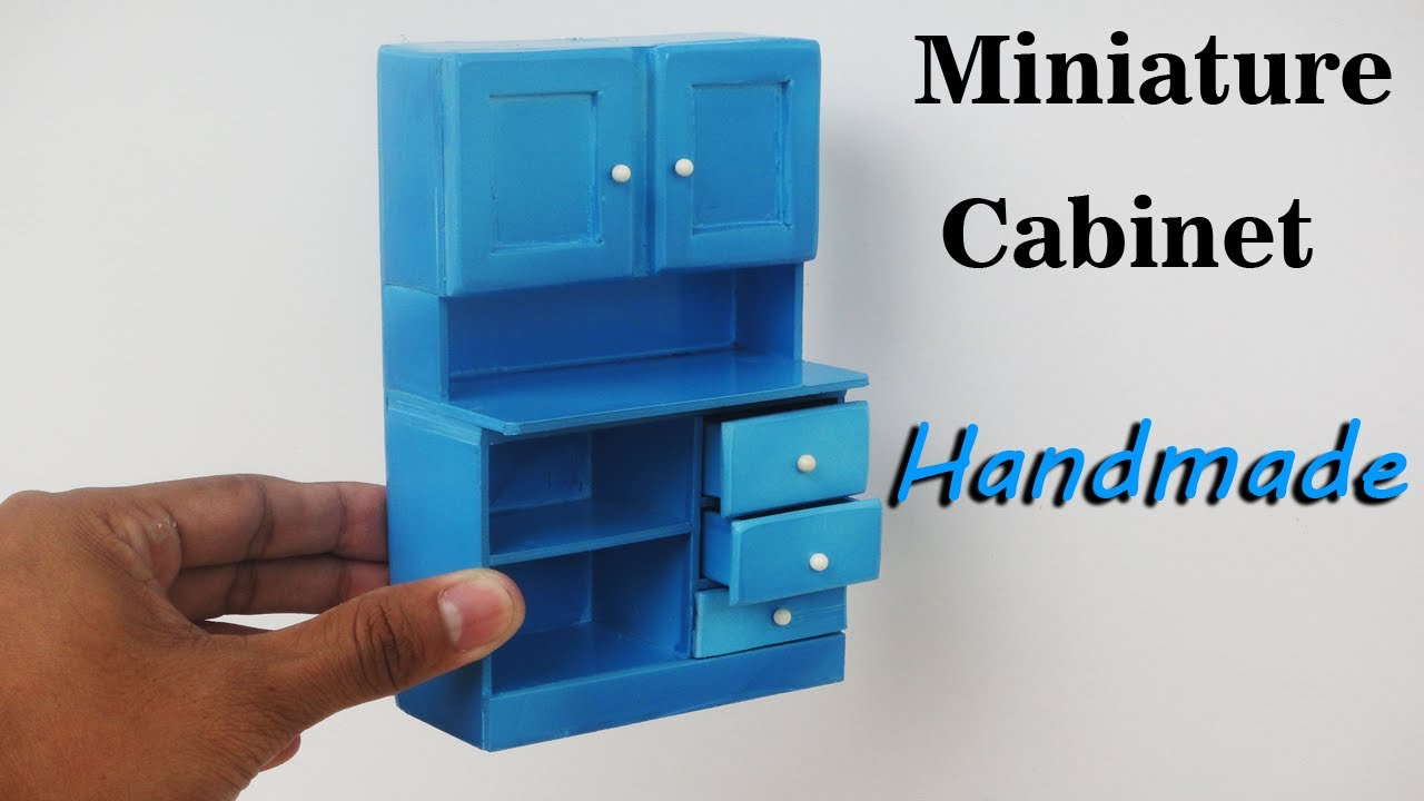 How To Make Realistic Miniature Cabinet Furniture   Handmade   Doll House