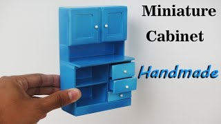 How To Make Realistic Miniature Cabinet Furniture -  Handmade - Doll House